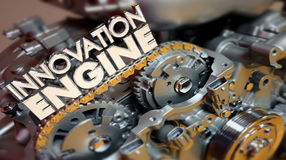 Innovation Engine New Business Ideas Creation Lab 3d Illustration stock illustration