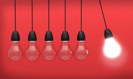 Innovation för ljus för idé för kulaljus Royaltyfri Bild