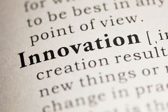 Innovation. Fake Dictionary, Dictionary definition of the word Innovation. including key descriptive words Royalty Free Stock Images