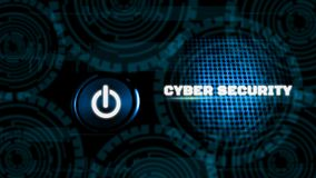 Innovation futuristic digital background technology, with switch on-off, Online database protection concept and public information royalty free illustration