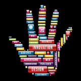 Innovation hand concept Stock Photography