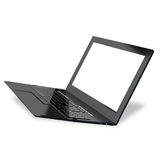 Innovation high speed laptop for global Internet technology Stock Photo
