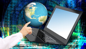 innovation high speed laptop for global Internet technology Royalty Free Stock Images