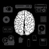 Innovation from the human brain. Vector illustration Stock Images