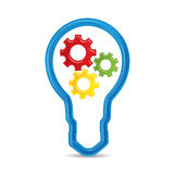Innovation icon, info graphic in modern design Stock Images