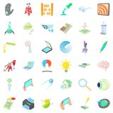 Innovation icons set, cartoon style. Innovation icons set. Cartoon style of 36 innovation vector icons for web isolated on white background Royalty Free Stock Photos