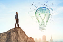 Innovation and idea concept royalty free stock photos