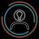 Innovation idea icon. Flat illustration innovation vector illustration