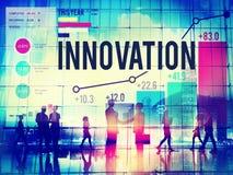 Innovation inför nyheter begrepp för inspirationuppfinningfantasi Royaltyfria Bilder