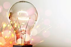 Innovation. Light bulb inspiration solution electricity light ideas royalty free stock photography