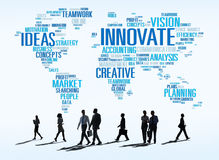 Innovation Inspiration Creativity Ideas Progress Innovate Concep. T royalty free stock images