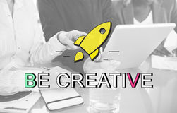 Innovation Launch Successful New Start Graphic Concept Royalty Free Stock Images