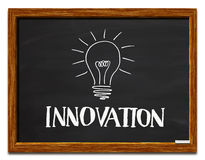 Innovation and light bulb Royalty Free Stock Photo