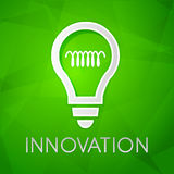Innovation and light bulb sign, flat desig Royalty Free Stock Photography