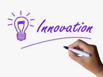 Innovation and Lightbulb Show Ideas Creativity Royalty Free Stock Photo