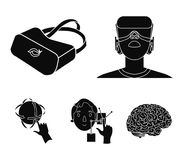 Innovation, man, head, hand .Virtual reality set collection icons in black style vector symbol stock illustration web. Innovation, man, head, hand .Virtual royalty free illustration