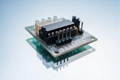Innovation micro électronique de robotique de détail Images stock