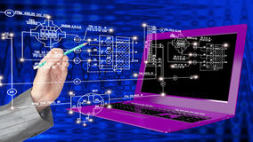 Innovation modern engineering computer technology Stock Photos