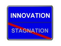 Innovation not stagnation Royalty Free Stock Photos