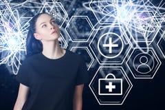 Innovation- och sjukvårdbegrepp Arkivfoto