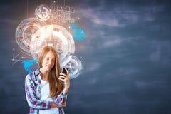 Innovation och teknologi royaltyfria bilder