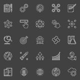 Innovation outline white icons Royalty Free Stock Photos