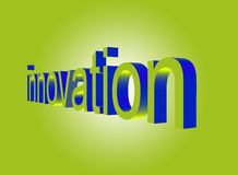 Innovation perspective on green. The word innovation in perspective on a green gradient background Stock Photography