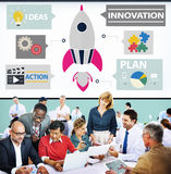 Innovation Plan Planning Ideas Action Launch Start Up Success Co stock photo