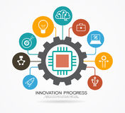 Innovation process template. Royalty Free Stock Image