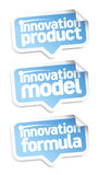 Innovation products speech bubbles. Stock Images