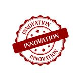 Innovation stamp illustration. Innovation red stamp seal illustration design stock illustration