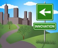 Innovation Sign Shows Reorganization Transformation 3d Illustration. Innovation Sign Showing Reorganization Transformation 3d Illustration vector illustration