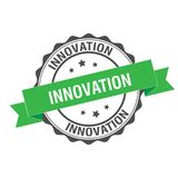 Innovation stamp illustration. Innovation stamp seal illustration design stock illustration