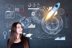 Innovation and startup concept royalty free stock photo
