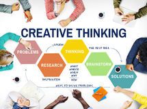 Innovation Strategy Creativity Brainstorming Concept. Business Team Innovation Strategy Creativity Brainstorming royalty free stock photos