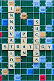 Innovation and Strategy crossword Stock Photo