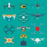 Innovation téléguidée de surveillance de quadcopter de bourdon de véhicule Vecteur sans fil planant de véhicule de bourdon d'air  Photos stock
