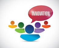 Innovation team message illustration design. Over a white background stock illustration