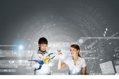 Innovation technologies in education Stock Photos