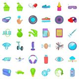 Innovation technology icons set, cartoon style. Innovation technology icons set. Cartoon style of 36 innovation technology vector icons for web isolated on white Royalty Free Stock Photography