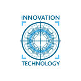 Innovation technology logo concept. Royalty Free Stock Images