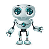 Innovation technology science fiction future cute little 3d robot design vector illustration. Innovation technology fiction science future cute little 3d robot Royalty Free Stock Image