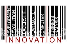 INNOVATION text barcode Royalty Free Stock Photography