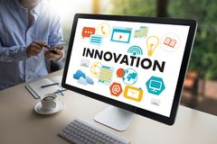 INNOVATION think creative ideas Invent Knowledge Creative proces Royalty Free Stock Photo