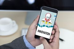 INNOVATION think creative ideas Invent Knowledge Creative proces Stock Photography