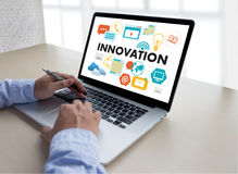 INNOVATION think creative ideas Invent Knowledge Creative proces Stock Photos