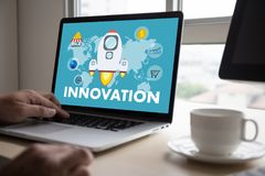 INNOVATION think creative ideas Invent Knowledge Creative proces Royalty Free Stock Images