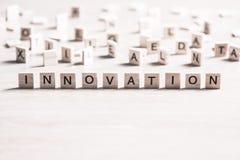 Innovation trevar ord royaltyfri bild