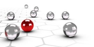 Innovation und einzigartiges, Geschäfts-Unterschied-Hintergrund lizenzfreie abbildung