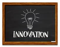 Innovation und Glühlampe Lizenzfreies Stockfoto